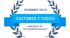 Customer Choice Award 2018 by SoftwareSuggest
